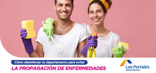 desinfectar departamento evitar propagacion enfermedades