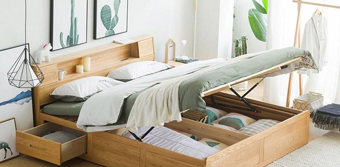 mobiliario cama dormitorio